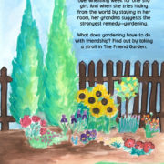 """""""The Friend Garden"""" back cover."""
